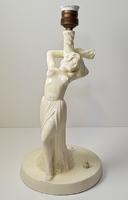 Gyönyörű, antik art deco kerámia lámpatest