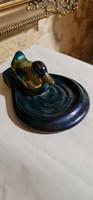 Zsolnay eozin antik úszó kacsa