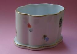Hibátlan Antik Herendi porcelán virágos fogvájó tartó / kis váza 1958