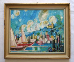 Pleidell János jelzésű Tihany című festmény