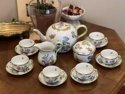 Viktória mintás eredeti Herendi porcelán teás készlet 1 Forintról!!!