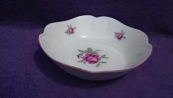Bavaria porcelán rózsás köretes tál