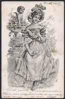 Hölgy puttóval 1902-ből