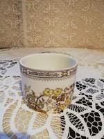 Eladó régi porcelán spanyol virágos tároló edény!
