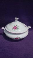 Bavaria porcelán rózsás leveses tál