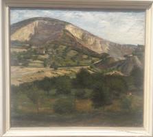BLASKÓ JÁNOS (1919-1988) szignózott olaj-vászon tájkép 111x101 cm kerettel - Glatz Oszkár tanítványa