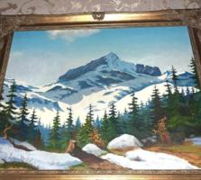 Gyönyörű antik tájkép blondelkeretben  áron alul Végkiárusítás minden festmény -50%