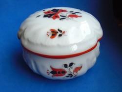 Antik hibátlan ritka herendi porcelán bonbonier asztaldísz, ékszer / cukor tartó