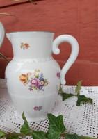 Ritkább kisebb méretű Gyönyörű virágos Kőbányai Porcelán kancsó, Gyűjtői darab