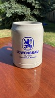 Sörös korsó West Germany Löwenbrau hibátlan retro