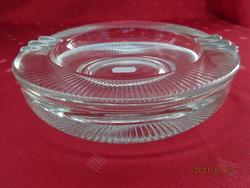Vastag falú, csiszolt üveg hamutál, átmérője 16,5 cm. Vanneki!