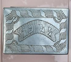 Dózni, doboz, 1944, világháború egyedi munka, front vagy hadifogoly emlék
