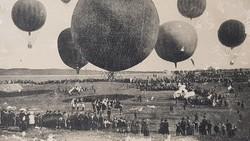 Régi képeslap, levelezőlap, Léggömbverseny 1911