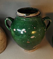 Készlet söprés !!!!  Antik zöld mázas szilke