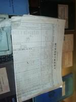1902 es Hirdetmény régi igazolványok, betétkönyv