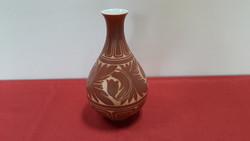Barna mintás koreai váza