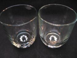 Kristály mécsestartó pohár pár , csillagos alul