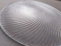 Kézműves üveg kínáló, kagyló formában
