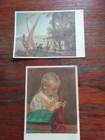 Kettő darab régi képeslap
