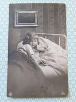 Régi gyerekfotó 1916 képeslap vintage levelezőlap