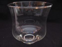 Hurrikán mécsestartó, váza , dekor üveg kis talppal