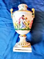 Capodimonte kézzel festett váza