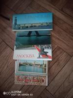 Moszkva-Leningrád 90 darabos képeslap gyűjtemény az 1970-es évekből