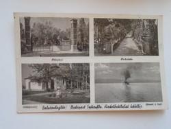 G21.322   Régi képeslap  Balaton  Balatonboglár Budapest Szék. Hirdetővállalat üdülője  ca 1940's