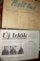 6 régi újság Pesti Izé, stb. újságcsomag