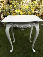 Provence vintage neobarokk kis asztal ,konzol asztal