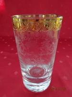 Mintás vizes pohár arany szegéllyel, magassága 14 cm. Vanneki!
