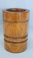 Máktörő mozsár, Alföld, kivájt, esztergált fa