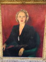 Kaszab Judit ( Judy Cassap ) : Elegáns, úri hölgy portréja