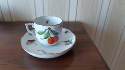 Herendi antik  gyümölcs mintás csésze