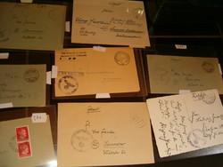 15 db Német birodalmi 1943 feldpost levél boríték Horogkereszt bélyegző Hannover katonai tábori stb