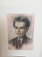 Jelzett férfi portré, önarckép