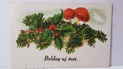 """Régi képeslap """"Boldog Újévet"""" üdvözlőlap, levelezőlap 1941"""