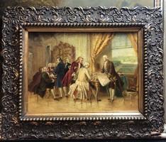 Festmény.Franz Schams.(Eredeti)!