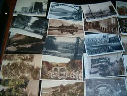 100 db angol Képeslap régiek nem futottak iratlan hátoldal első második világháború korabeliek
