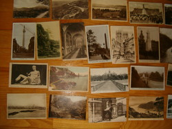 40 db angol Képeslap régiek második világháború korabeli szép futások pár lithorográfiával litho