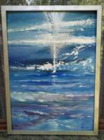 Modern absztrakt festmény, Szelídülés c.