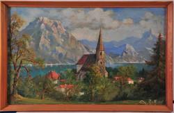 Andreas Roth (1872-1949) Alpesi táj
