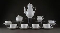 1E555 Hófehér mosogatógépben is mosható Herendi porcelán kávéskészlet