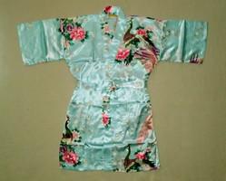 Nagyon szép, újszerű állapotú női japán kínai pávás selyem köntös M-L-es méret