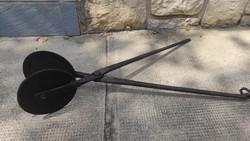 Ostya sütő vasból készült, díszes mintàs díszes, kézi antik konyhai eszköz! Sütő forma