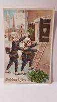 """Régi képeslap """"Boldog Újévet"""" üdvözlőlap, levelezőlap 1931"""