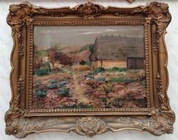 Pállya Carolus (1875-1948)  Eredeti Festmény Garanciával