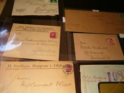 50 db Német birodalmi  levél boríték Horogkereszt bélyegző harmadik birodalom weimar stb