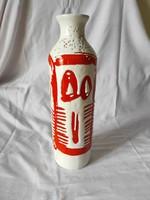 Zsűrizett kerámia váza 40 cm