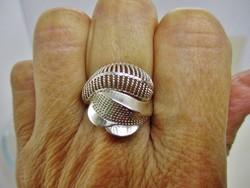 Egyedi szép kézműves  ezüst gyűrű